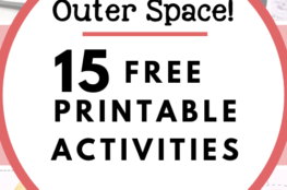 15 Free Printable Activities for Learning About Space! There are activities here for the solar system, constellations, and moon phases. I put together this list to get myself ready to keep my preschooler involved in our outer space exploration. I checked & downloaded every link, and only included freebies with no e-mail signup required. #freeprintables #kidsactivities #solarsystem #constellationsforkids #moonphasesforkids #SpaceHHM