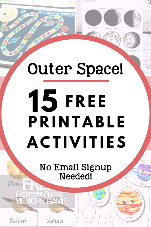 15 Free Printable Resources Space Activities for Kids