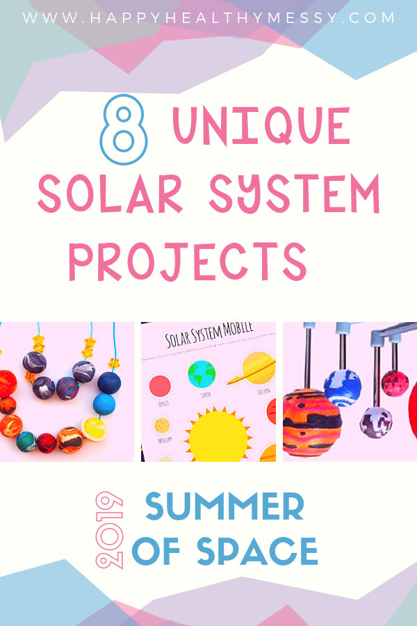 We're Celebrating Summer of Space 2019 with these unique solar system projects for kids - 8 projects for 8 planets! Sorry, Pluto ;)
